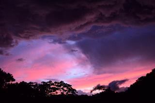 dramatic colorful sunrise