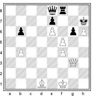 Estudio artístico de ajedrez compuesto por O. Pervakov (5º Premio, Moscú-850 1997)
