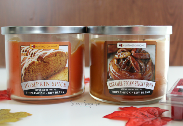 ALDI pumpkin and cinnamon bun candles
