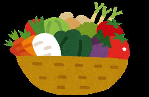 野菜のイラスト「カゴに盛られた野菜」