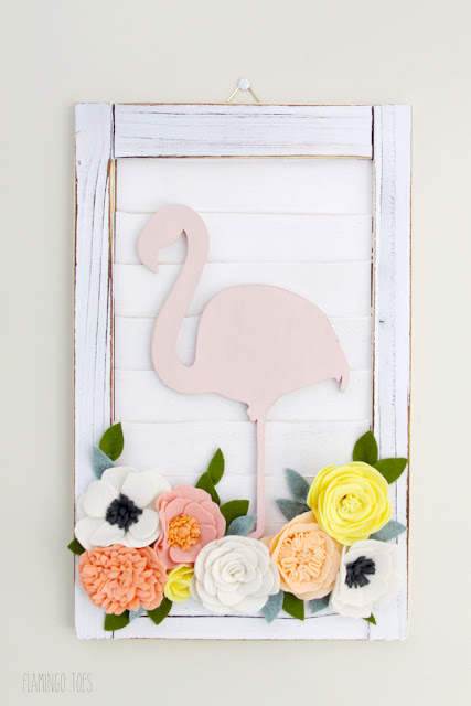 Flamingo Wall Decor DIY