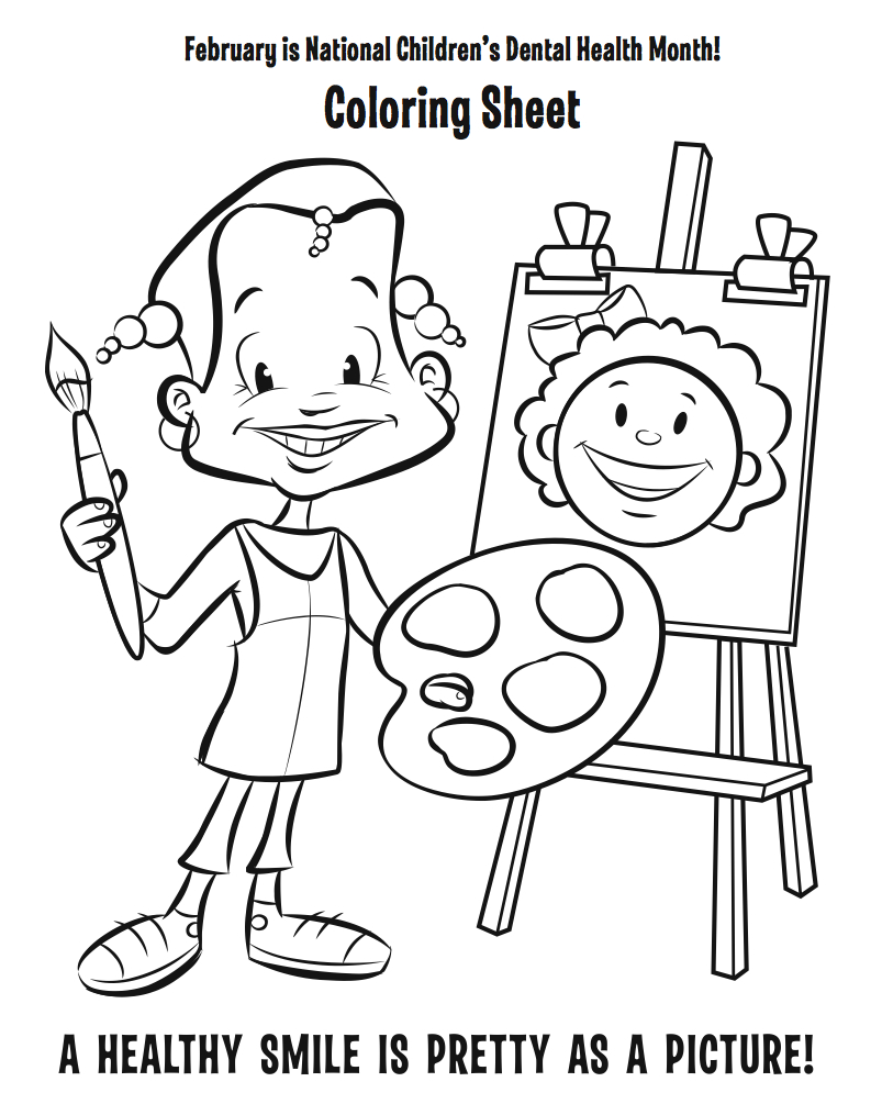 dental health coloring pages | Crabapple Dental: Teach Your Kids About Dental Health: Fun ...