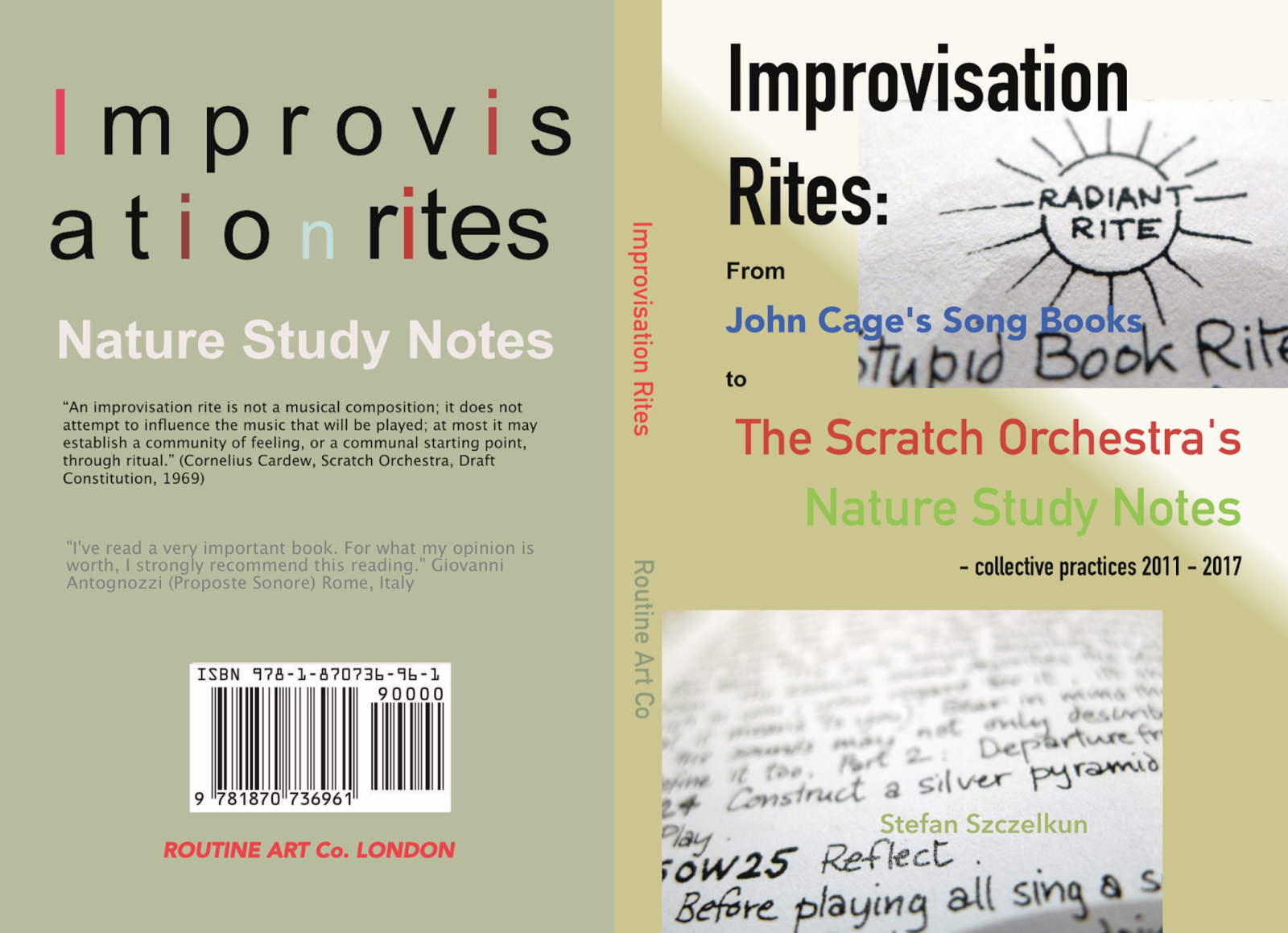 IMPROVISATION RITES: from John Cage's 'Song Books' to the