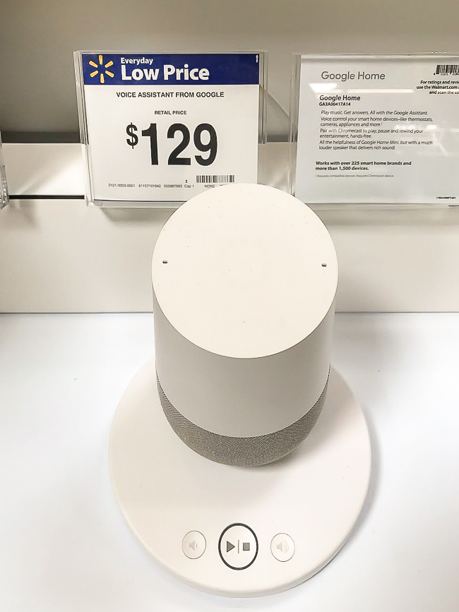 The perfect gift , Google Home from Walmarrt