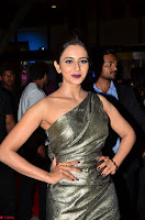 Rakul Preet Singh in Shining Glittering Golden Half Shoulder Gown at 64th Jio Filmfare Awards South ~  Exclusive 023.JPG