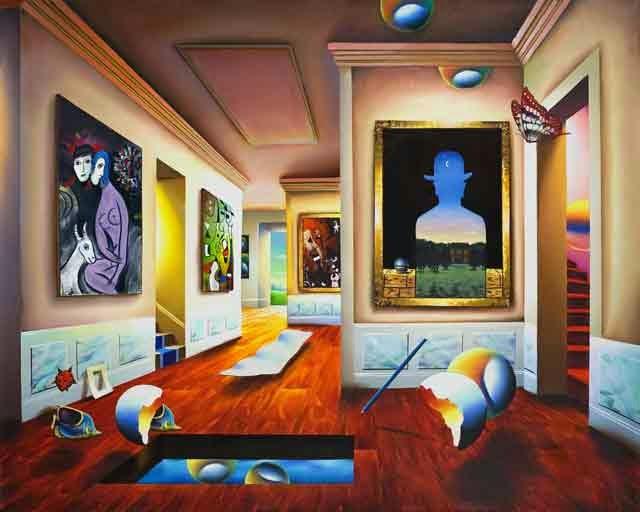 Interior com Magritte - Ferjo e suas pinturas ~ O artista da pintura dentro de outra