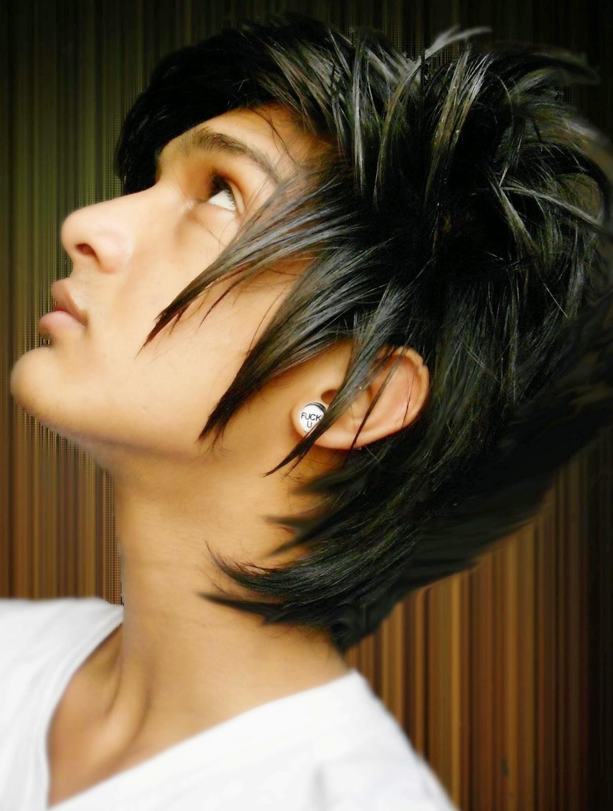 Potongan Rambut Pria Emo 7