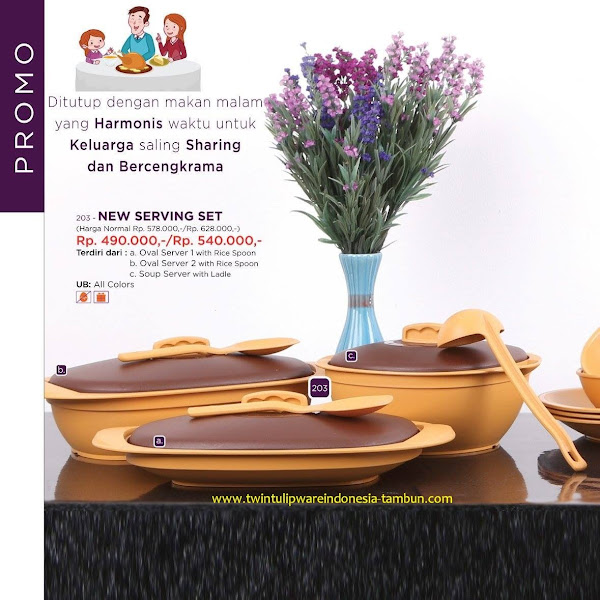 Promo Diskon Tulipware April 2017, New Serving Set