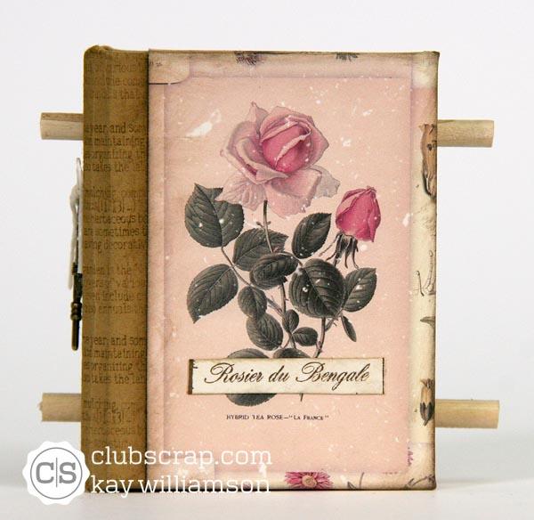 Kay 39 s keepsakes garden scroll book for Garden club book by blackbird designs