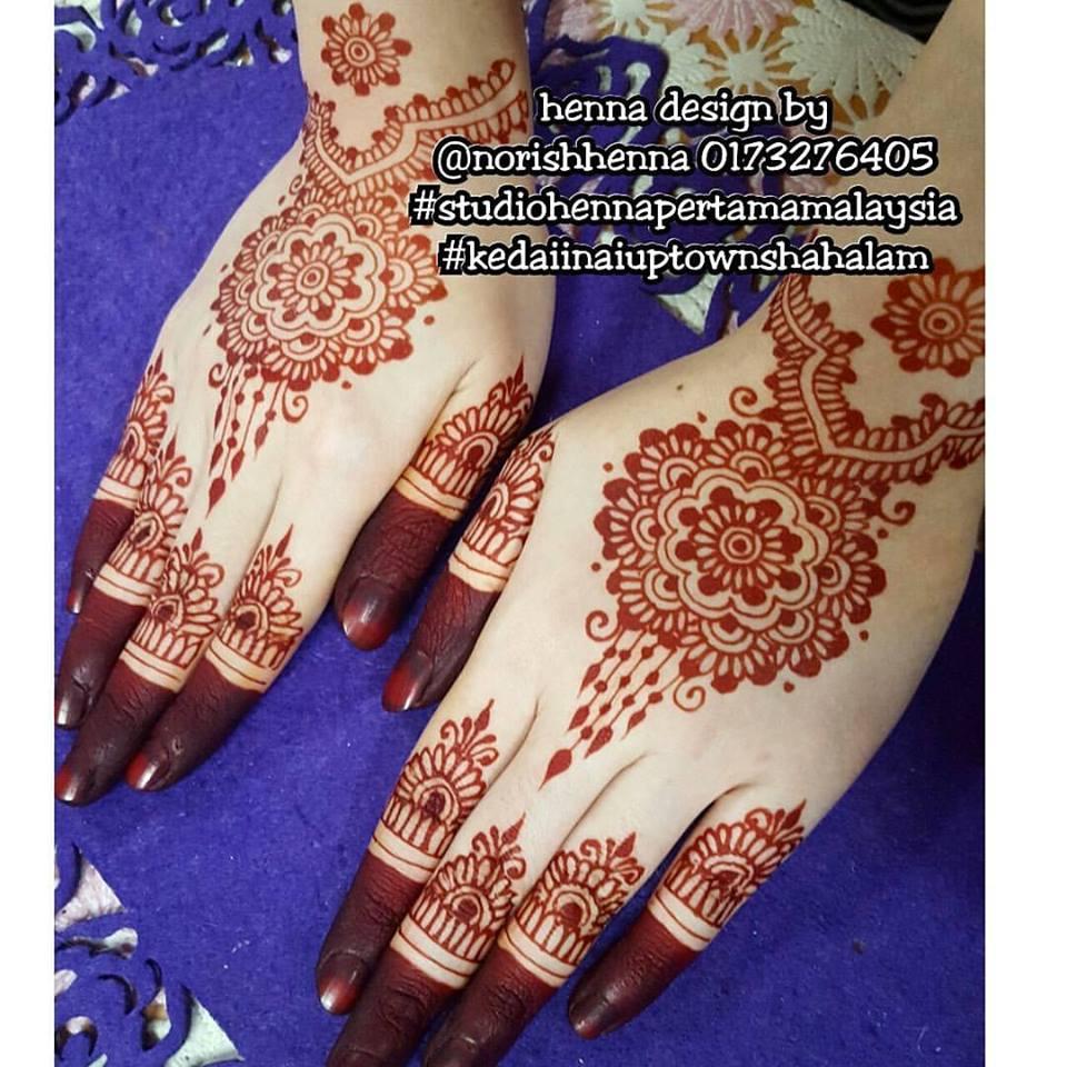 Perkhidmatan Ukiran Inai Pengantin Henna Lukis Inai Kahwin