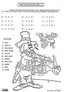 Tablas De Multiplicar Fichas Para Colorear Y Jugar Aula