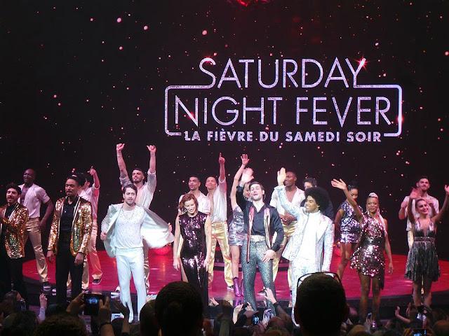 Saturday Night Fever la fièvre du samedi soir spectacle comédie musicale Palais des sports Paris Fauve Hautot Nicolas Archambault