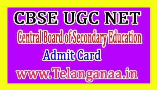 CBSE UGC NET Admit Card