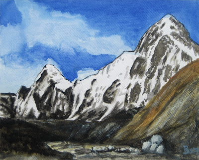 Painting of a Mountain