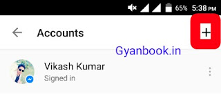 Add Facebook account in messenger
