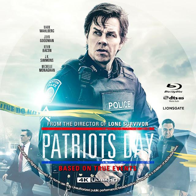 Patriots Day 4K Bluray Label