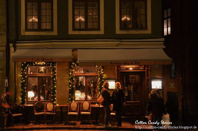 Weihnachtsbeleuchtung in Gamla Stan Stockholm