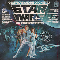 The cover art to the Geoff Love and his Orchestra - Star Wars and other space themes LP