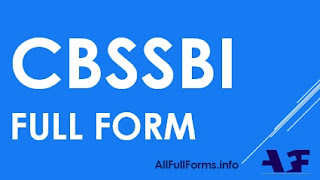 CBSSBI Full Form