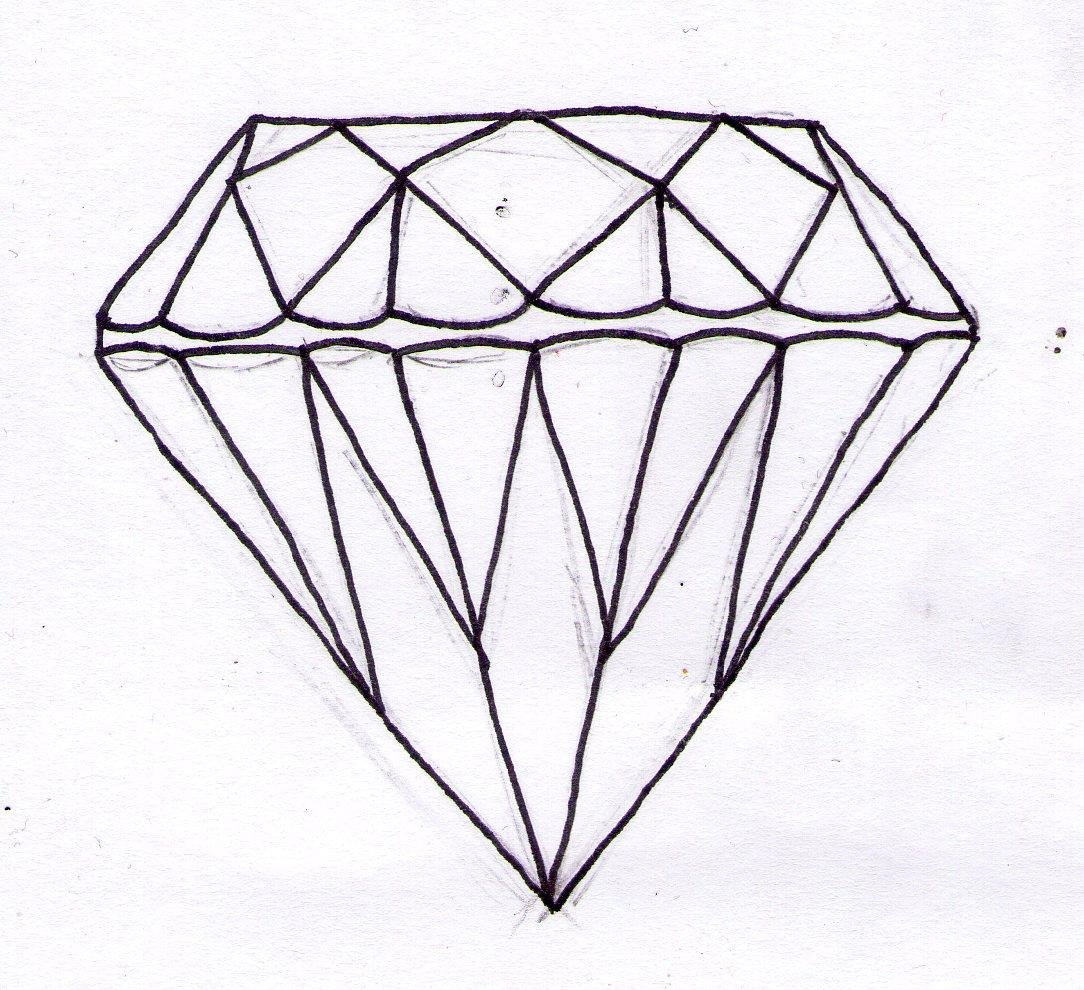 Drawing Easy Diamond Rachellsrobin How To Draw A Diamond