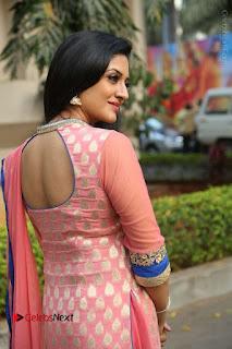 Actress Vimala Raman Stills in Beautiful Pink Salwar Kameez at (ONV) Om Namo Venkatesaya Press Meet  0183.JPG