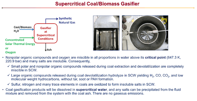 Supercritical Water Coal Gasification