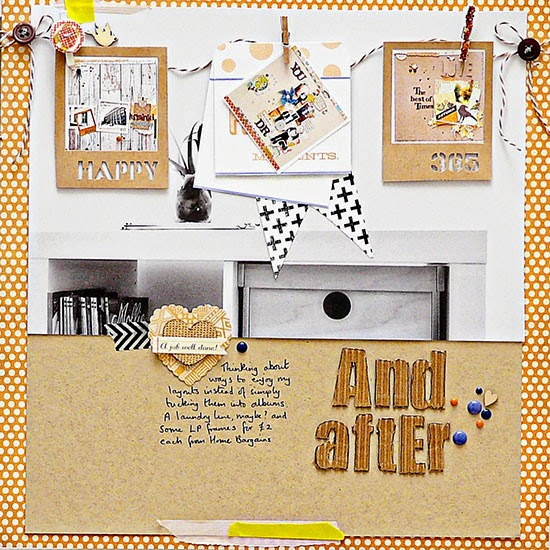 From High in the Sky: scrapbooking layered photos for Get It Scrapped