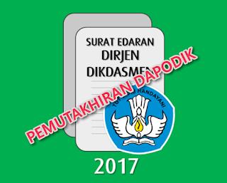 Pemutakhiran DAPODIK Semester 2 Tahun Pelajaran 2016/2017 Diperpanjang Sampai 15 Maret 2017