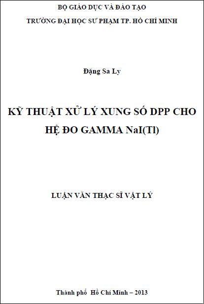 Kỹ thuật xử lý xung số DPP cho hệ đo Gamma NaI(Tl)