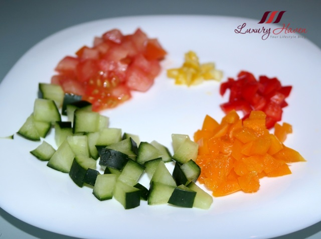 refreshing teriyaki salad sweet peppers japanese cucumbers