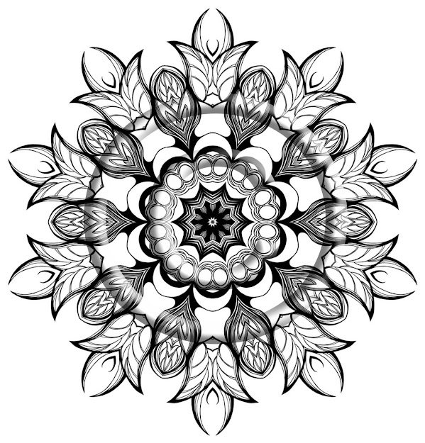 Zentangle Mandala Coloring Pages