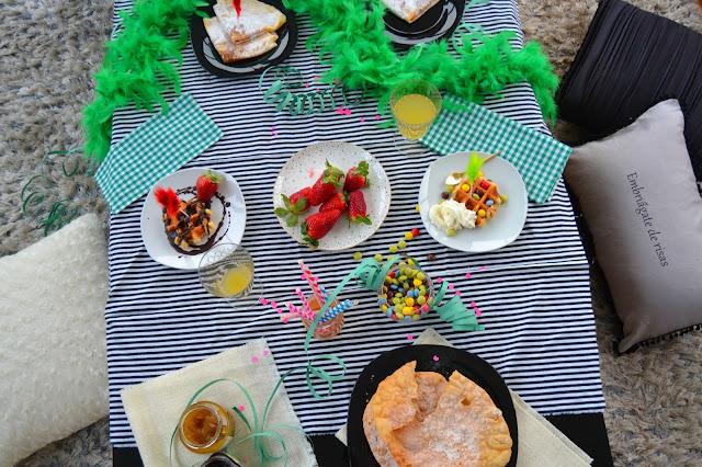 Una mesa para carnaval