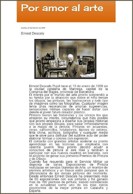 ERNEST DESCALS-POR AMOR AL ARTE-ARTICULOS-PINTORES-ARTISTA-PINTOR-ERNEST DESCALS