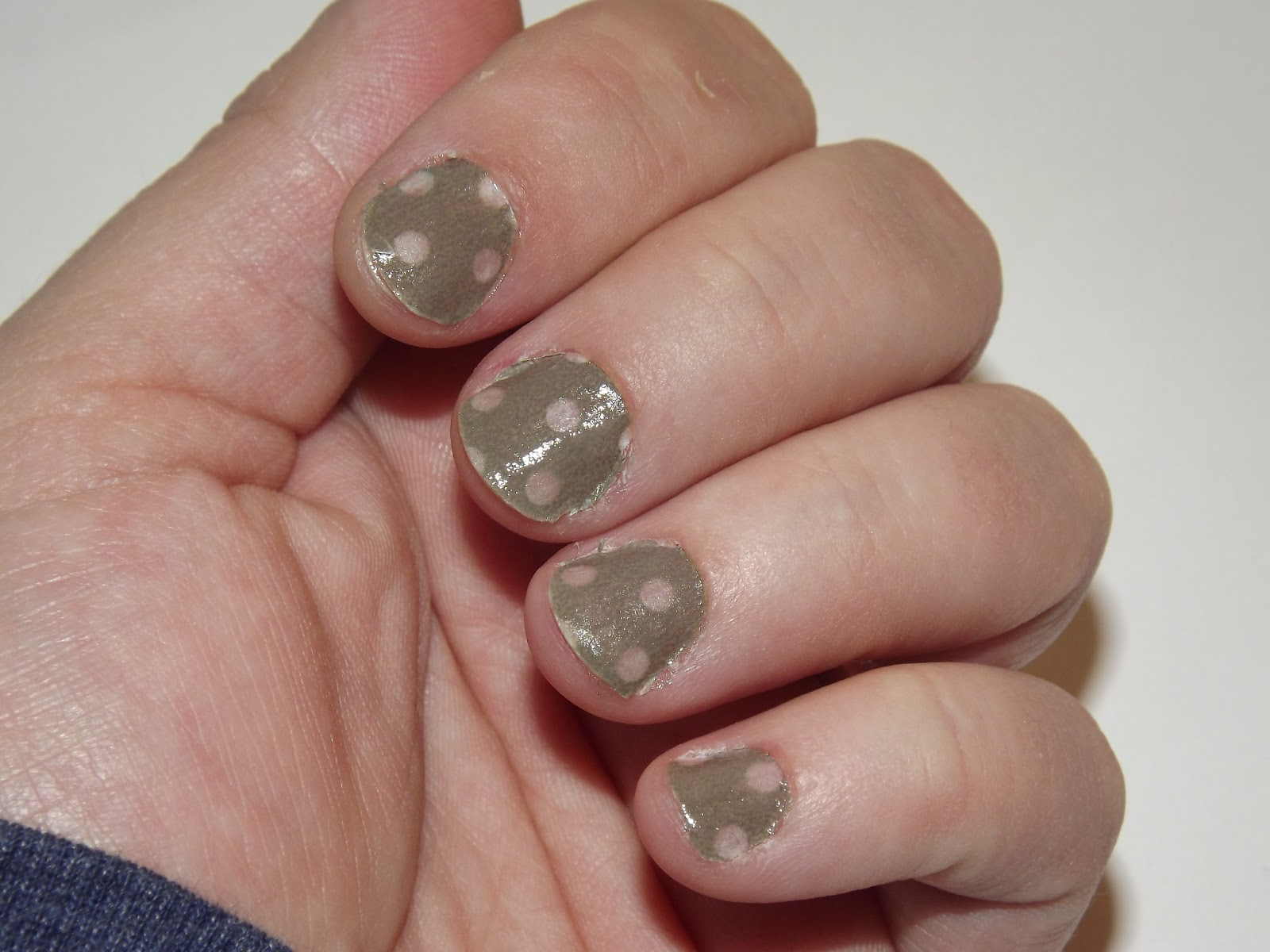 Washi Tape Nails - Through the Eyes of the Mrs