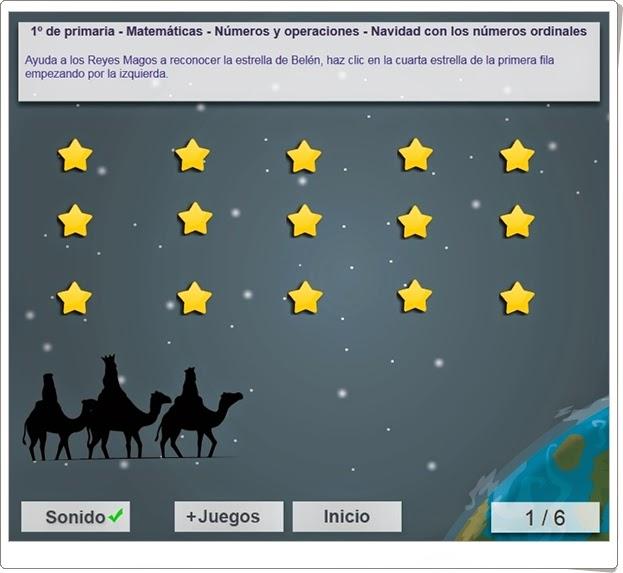 """""""Navidad con los números ordinales"""" (Matemáticas de 1º de Primaria)"""