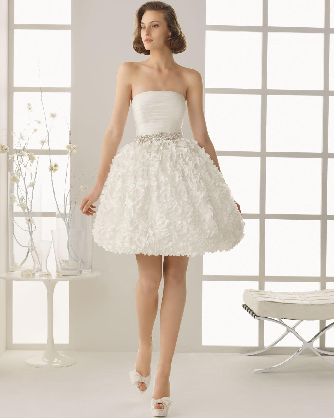 White Short Wedding Dresses Vera