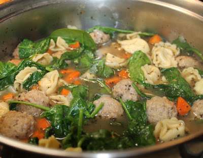 A Pot of Italian Wedding Soup