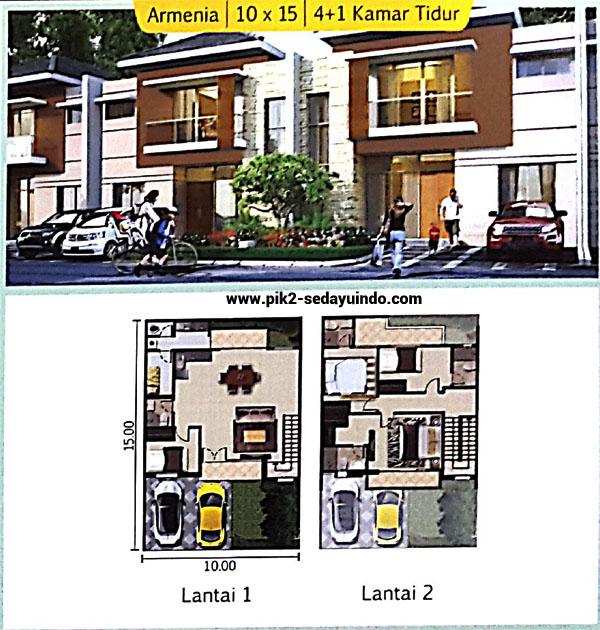 Cluster TAMPA rumah PIK 2 dijual tipe Armenia