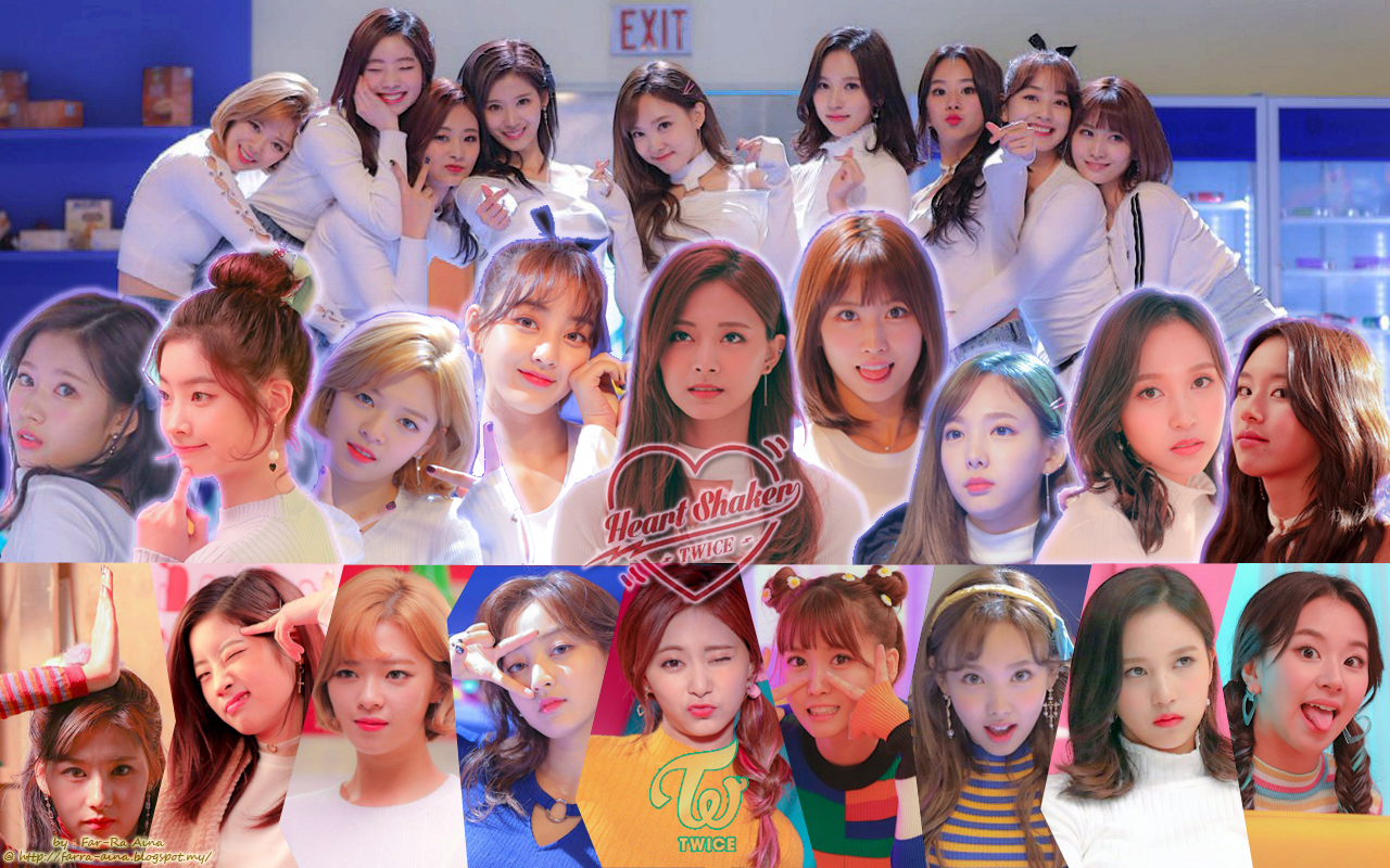 K Pop Lover Twice Heart Shaker Behind The Scenes Wallpaper