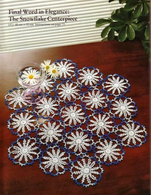Tapete Crochet Copo de Nieve Patron