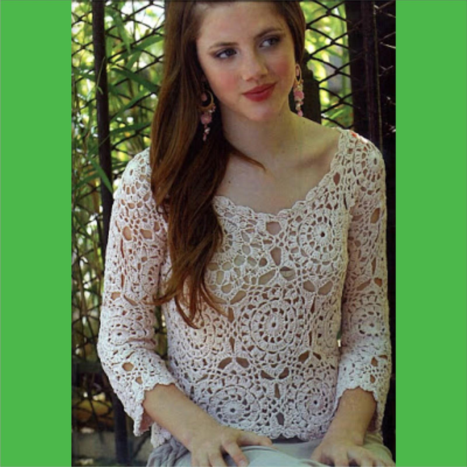 Nadia Easy Patterns: Plus size crochet top pattern #1