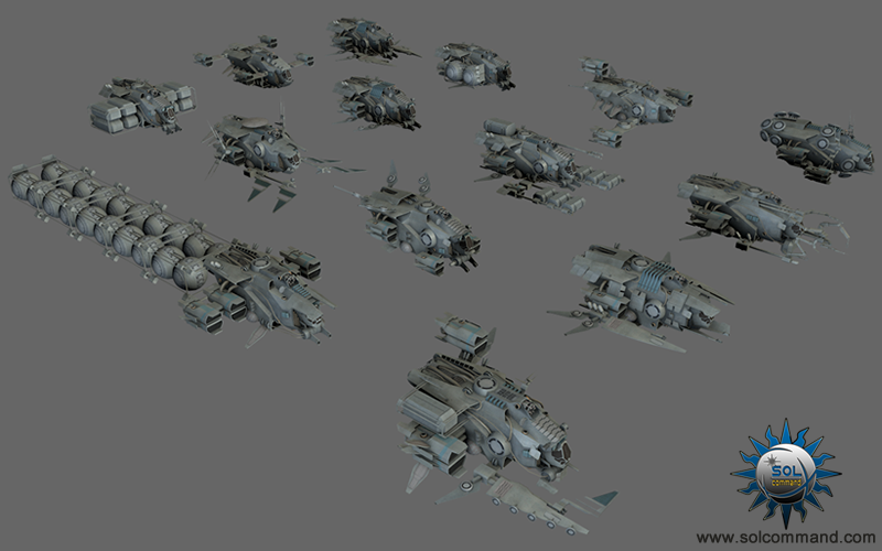 spaceships collection free download 3d models game ready fighter bomber repair construction cargo hauler transport interceptor stealth futuristic scifi