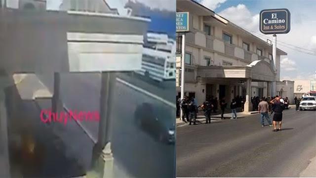 VIDEO; SICARIOS ATACAN A GRANADAZOS HOTEL DE FEDERALES