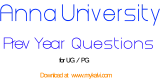 mykalvi,anna university,question papers,exam