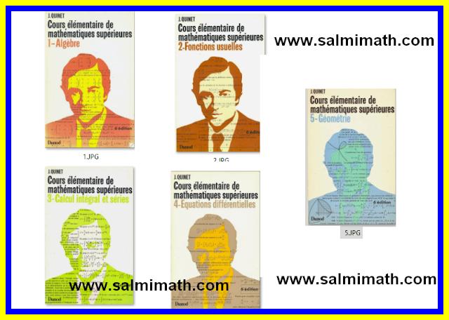 5 كتب شاملة للرياضيات بالفرنسية للمستوى الجامعي livre mathématique université