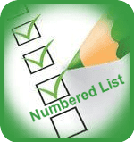 Номериран списък в публикация