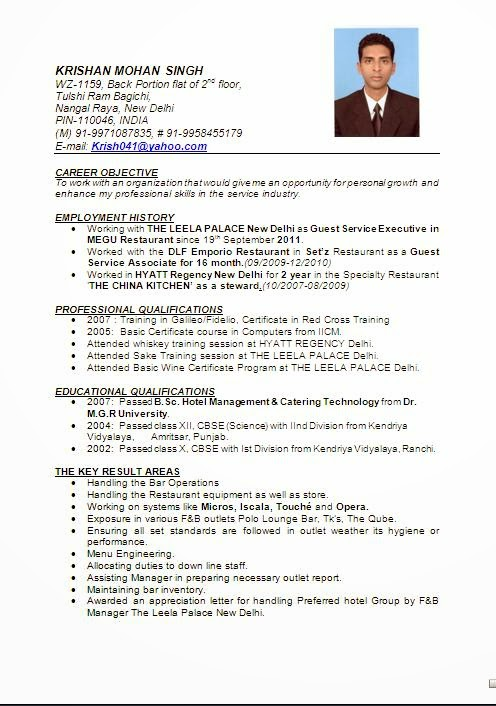 Sample Resume For Freshers In Hospitality Industry Resume Ixiplay - sample resume for hospitality industry