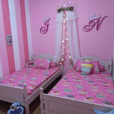 Warna Cat Kamar Tidur Pink Sederhana Ukuran kecil | Remaja ...