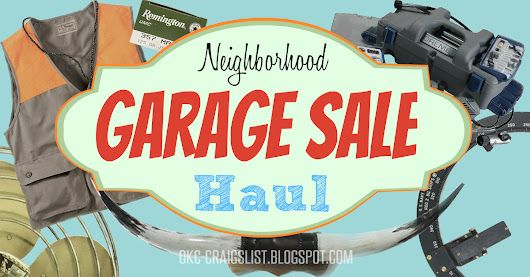 Great Finds: Neighborhood Garage Sales Pay Off