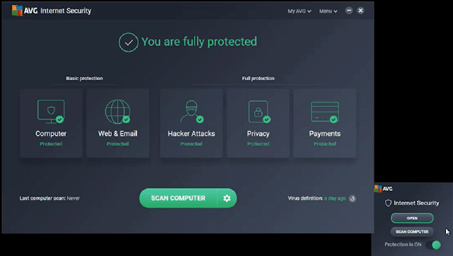 عرض حصري برنامج AVG Internet Security أفضل برامج الحماية مع مفتاح تفعيل قانوني